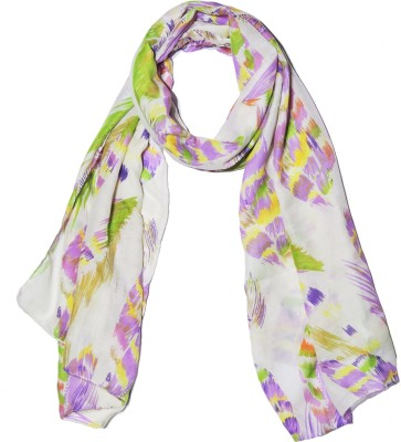 Weavers Villa Printed Trendy Scarves and Stoles Light Weight Premium Poly Cotton Summer Feather Design Women's Scarf