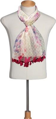 Urban-Trendz Floral Print Polyester Girls Scarf