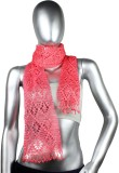 moKanc Self Design Silk Women's Scarf