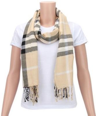 Glamorous Striped Cotton Women's Scarf