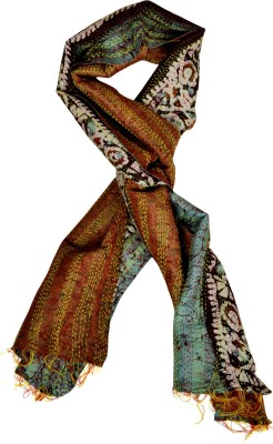 Lal Haveli Printed Raw Silk Girl,s, Women's Scarf