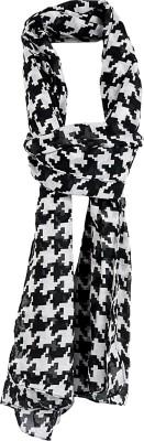 Crunchy Fashion Checkered Georgette Women,s Scarf