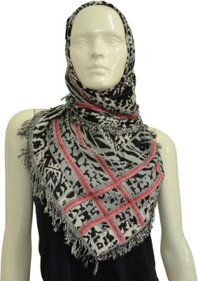 Jupi Animal Print Polyester, Cotton Women's Scarf
