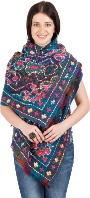 Shyam & Co. Of North Pvt. Ltd. Embroidered 100% Wool Exclusive Of Decoration Women's Scarf
