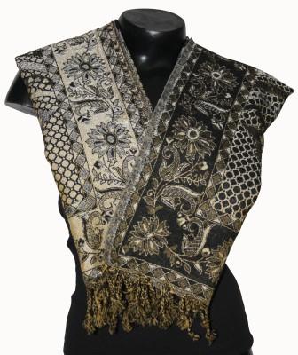 Harbans Floral Print Acrylic Wool Women's Stole