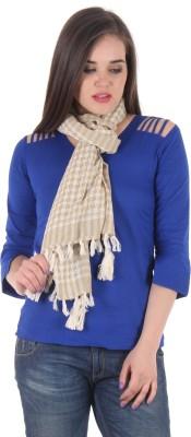 Uniscarf Checkered Cotton Women's Stole