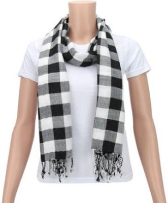 Glamorous Checkered Cotton Women's Scarf