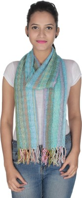Anekaant Striped Viscose Lurex Women's Scarf