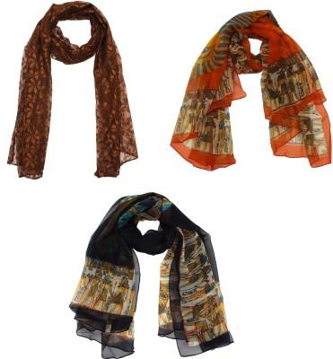 SFDS Self Design Cotton Women's Scarf