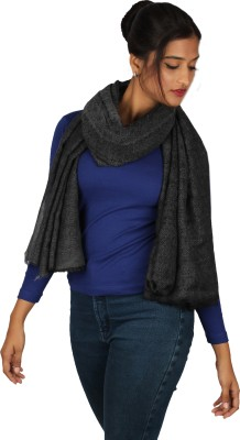 True Fashion Solid Pure Wool Women's Scarf