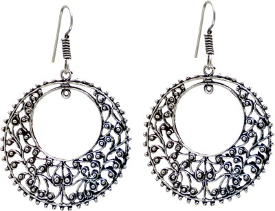 Studiob40 Studiob40 Silver Alloy Designer Drop Earrings Alloy Drop Earring