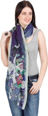 Shyam & Co. Of North Pvt. Ltd. Floral Print 96% Wool 4% Polyester Women's Scarf