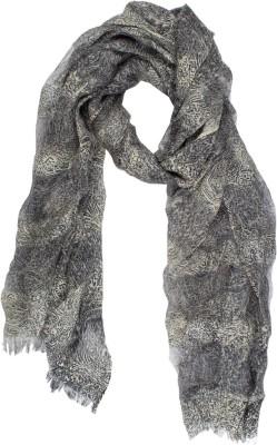 Amaryllis Graphic Print Wool Silk Women's Scarf