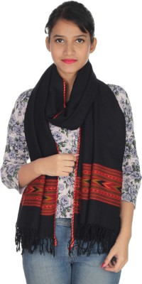 Quetzal Embroidered Wool Womens Stole