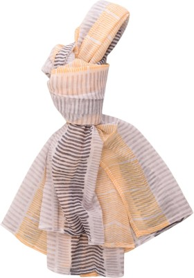 Raaga Textile Striped Cotton Girl's Scarf, Stole