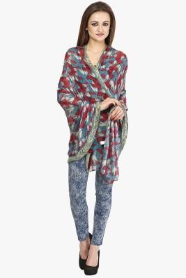 Citypret Floral Print Polyester Women's Stole