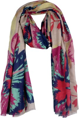 True Fashion Floral Print Polyetser Women's Scarf