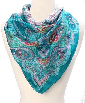 Textures Fashion Printed 100% Silk Women,s Scarf