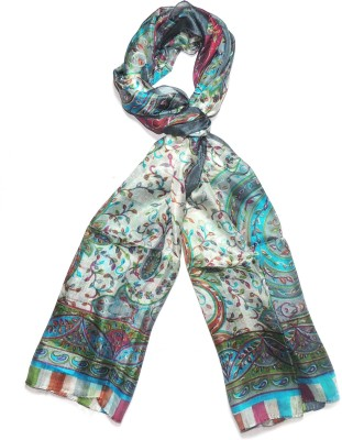 Indian Fashion Guru Floral Print Pure Silk Womens Stole
