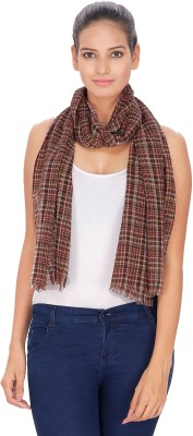 Anekaant Checkered Acrylic Wool Womens Stole
