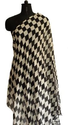 Jupi Checkered Polyester Women's Stole