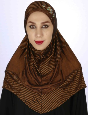 Islamic Attire Striped Cotton blend Women's Scarf