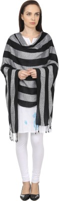 NEHANCHAL Striped Viscose Womens Stole