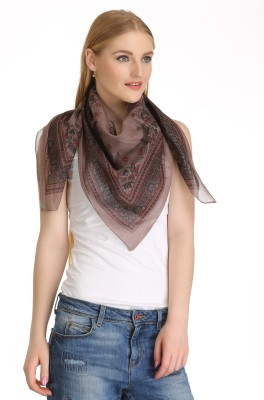 Cool Threads Floral Print Cotton/Lurex Women's Scarf