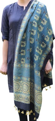 Indo Mood Printed Matka Silk Women's Stole