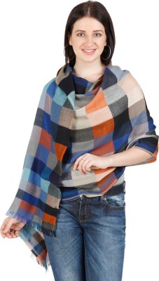 Shyam & Co. Of North Pvt. Ltd. Checkered 100% Wool Women's Scarf
