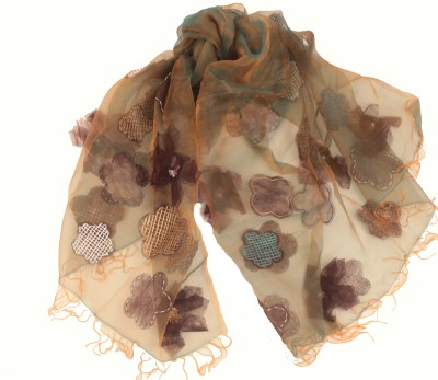 Amet And Ladoue Embroidered Organja Women's Scarf
