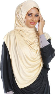 Parvin Solid Stretchable Polyester Women's Scarf