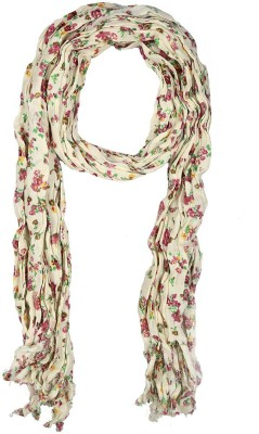 Holidae Floral Print viscos crepe Women's Scarf