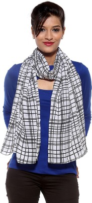 Covetindia Checkered Cotton Womens Stole