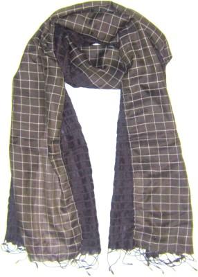 Dushaalaa Checkered Silk/Lycra Womens Scarf