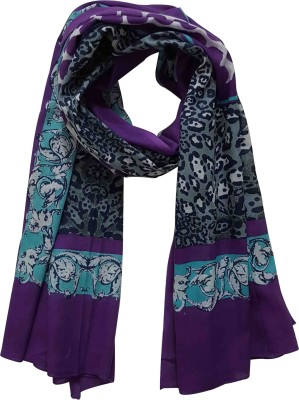 Chiktones Printed 100% Cotton Polyester Women,s Scarf