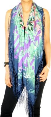 Ed Hardy Floral Print Silk Women's Scarf