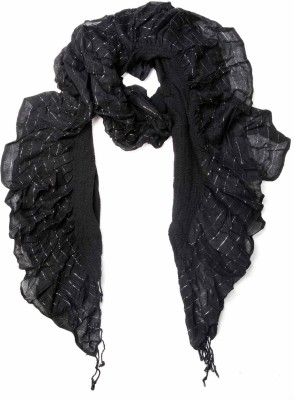 Niv Collection Self Design VISCOSE LUREX Girl's Scarf