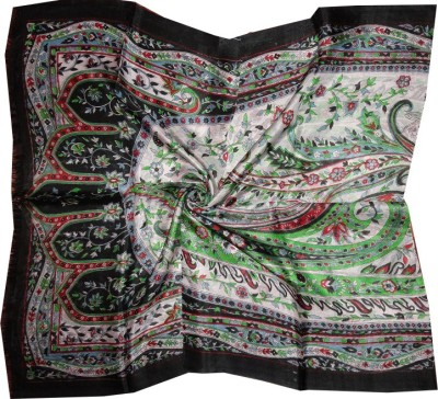 Dream Fashion Printed Pure Tabby Silk Womens Stole