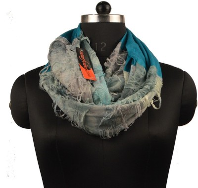 Scarfvibes Striped Polyester, Cotton Women's Scarf