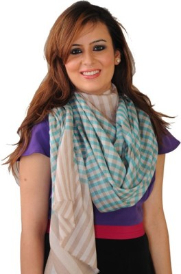 The Amritsar Store Woven Wool Women's Scarf