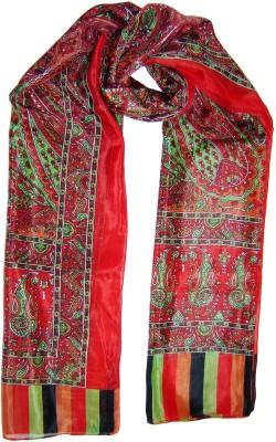 Saffron Craft Printed Silk Women's Stole