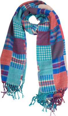 Colors Checkered Wool Women's Scarf