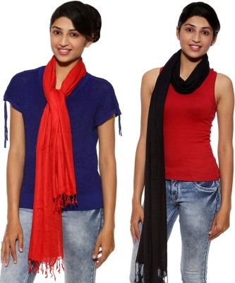 Covetindia Solid Viscose Womens Stole