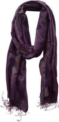 Dushaalaa Striped Silk Womens Scarf