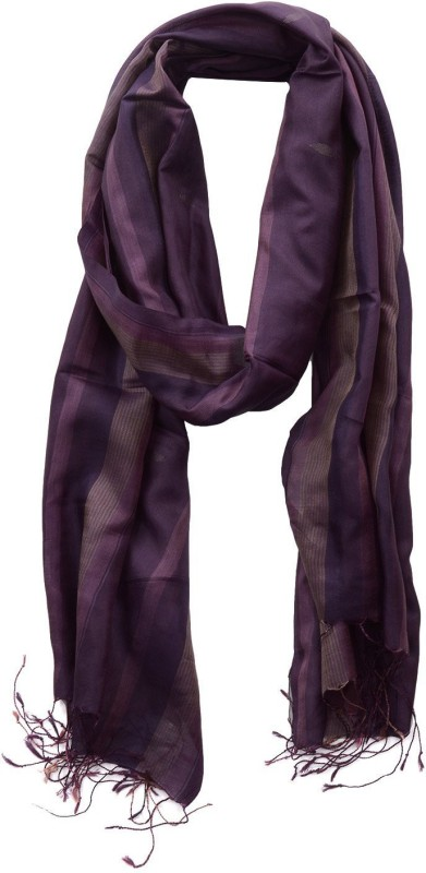 Dushaalaa Striped Silk Women's Scarf