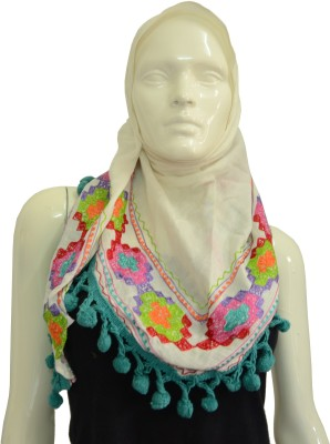 Jupi Embroidered Polyester Women's Scarf