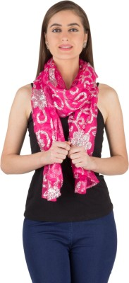 Famous by Payal Kapoor Embellished Georgette Women's Scarf