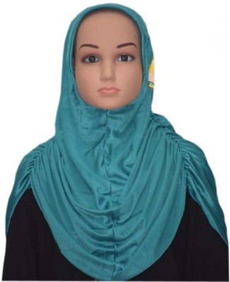 Islamic Attire Solid Polyester Girl's Scarf