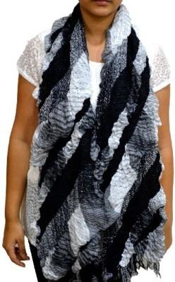 Portia Self Design Cotton Lycra Girl's Stole